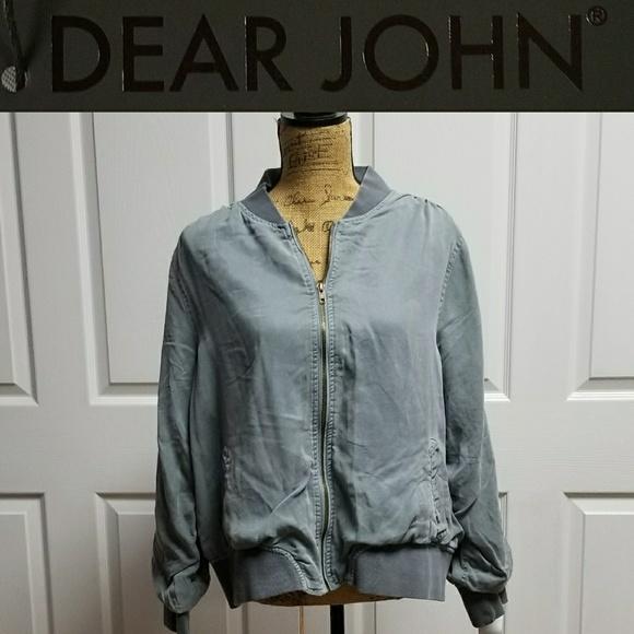 a526ec100d5b5 dear john Jackets & Coats | Dalba Bomber Jacket Sammy Nwt Light Gray ...